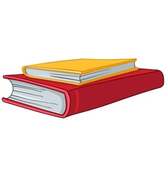 Cartoon home books vector