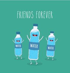Water bottle vector