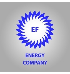 Logo energy efficiency eco energy sun vector