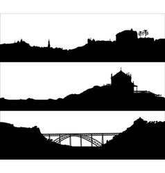 Silhouette of a city landscaoe vector