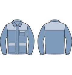 Work jacket Front and back vector image