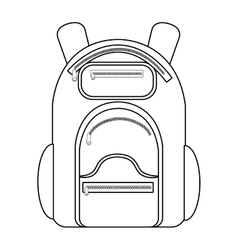 Camping backpack graphic vector