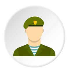 Army soldier icon circle vector