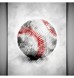 Baseball ball watercolor vector image