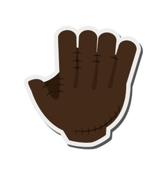 Baseball glove icon vector