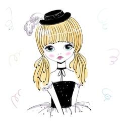 Beautiful romantic girl vector image vector image