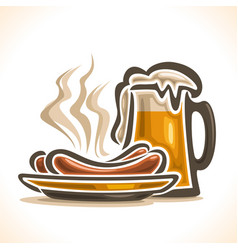 Beer and sausages vector