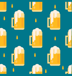 Beer mug pattern in flat style vector