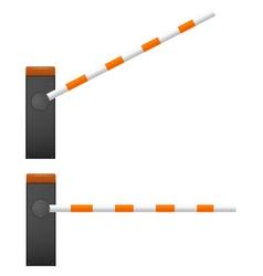 Black Mechanical barrier vector image vector image