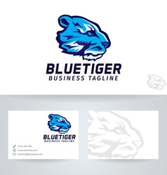 Blue Tiger vector image