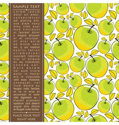 Card with apples vector image