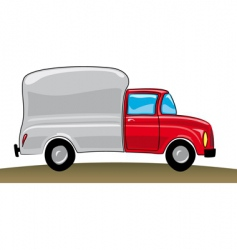 cartoon pickup truck vector image vector image