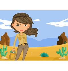 Cowgirl vector image vector image