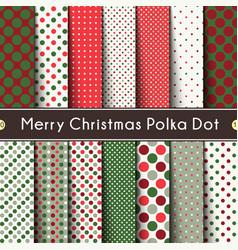 Fourteen merry christmas polka dot vector