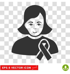 Girl With Sympathy Ribbon EPS Icon vector image