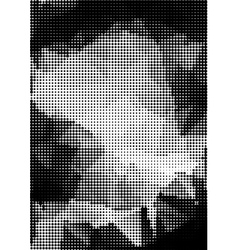Grunge halftone background rectangular a4 size vector