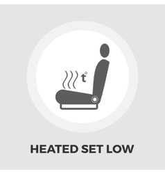 Heated seat flat icon vector image vector image