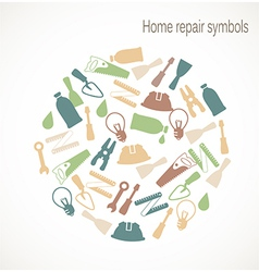 Home repair symbols vector image