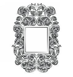 Imperial baroque rococo frame vector