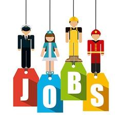 jobs design vector image vector image