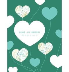 Mysterious green garden heart symbol frame vector