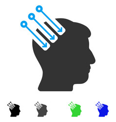 Neuro interface flat icon vector