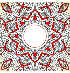 Ornament background in ethnic style vector image