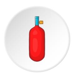 Oxygen cylinder icon cartoon style vector