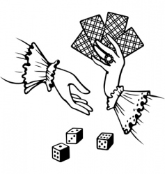 playing cards and dice vector image