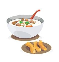 rice porridge vector image