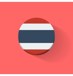 Round icon with flag of Thailand vector image