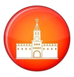 Russian kremlin icon flat style vector image
