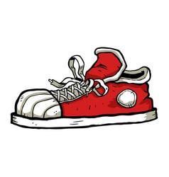 sneaker cartoon icon vector image