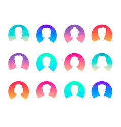 Social network and media avatars collection - vector
