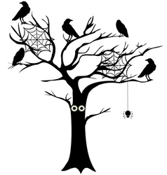 Spooky tree vector
