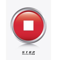 stop design vector image vector image
