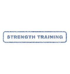 Strength training textile stamp vector