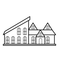 Stylish house icon outline style vector