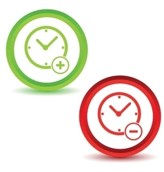 Two time manage icons vector
