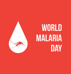World malaria day with mosquito vector
