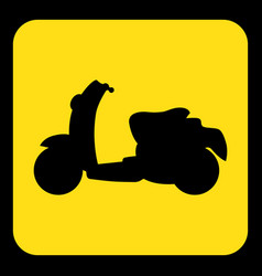 yellow black information sign - scooter icon vector image vector image