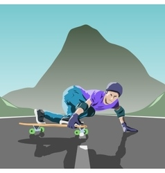 Longboard theme vector
