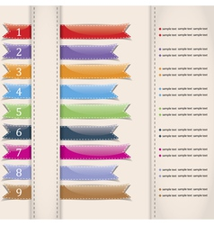 Set of colorful sample ribbons for various vector