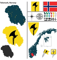 Map of telemark vector