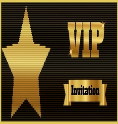 Vip club party premium invitation card flyer with vector