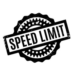Speed limit rubber stamp vector