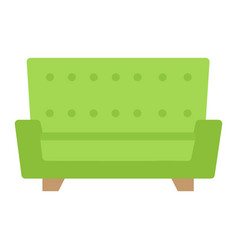 Sofa flat icon furniture and interior vector