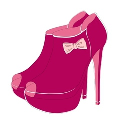Pink fashionable shoes vector