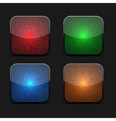 Collection of glowing icons vector