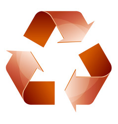 Recycle symbol of conservation brown icon vector